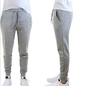 DOU New York Grey fleece jogger sweat pants